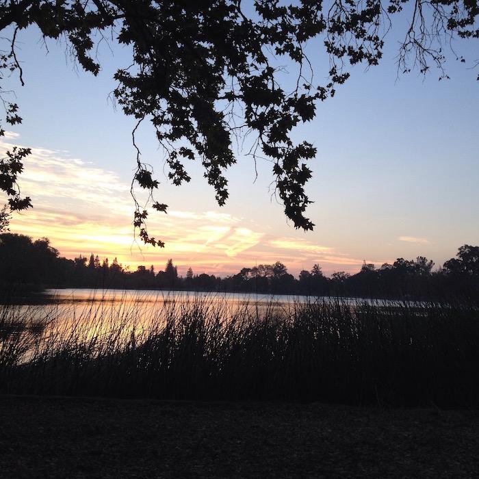 Sunrise on Lake Lodi
