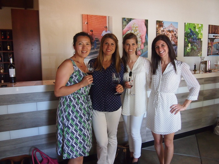 Wine tasting with Lisa, Alex and Meme at Wine and Roses Hotel