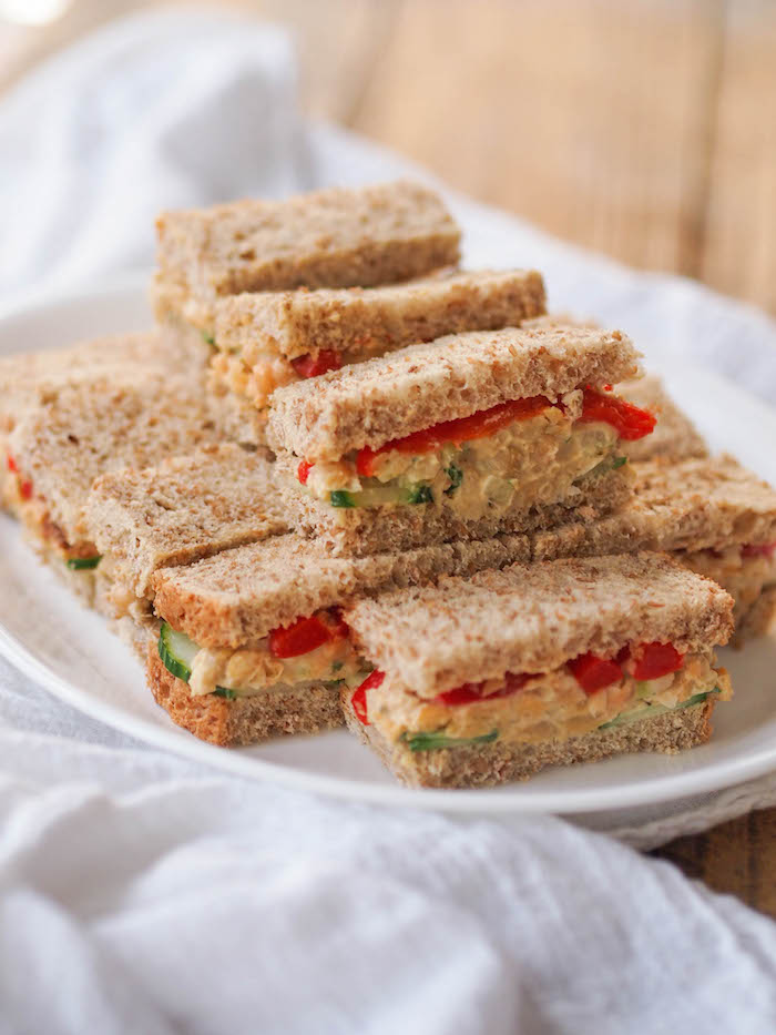Vegan Chickpea Hummus Salad Sandwiches