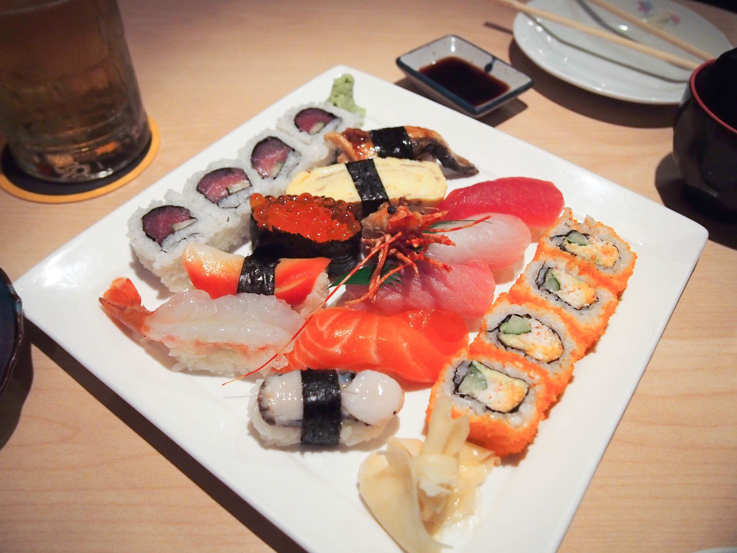 Sushi at Yanagi Sushi in Honolulu