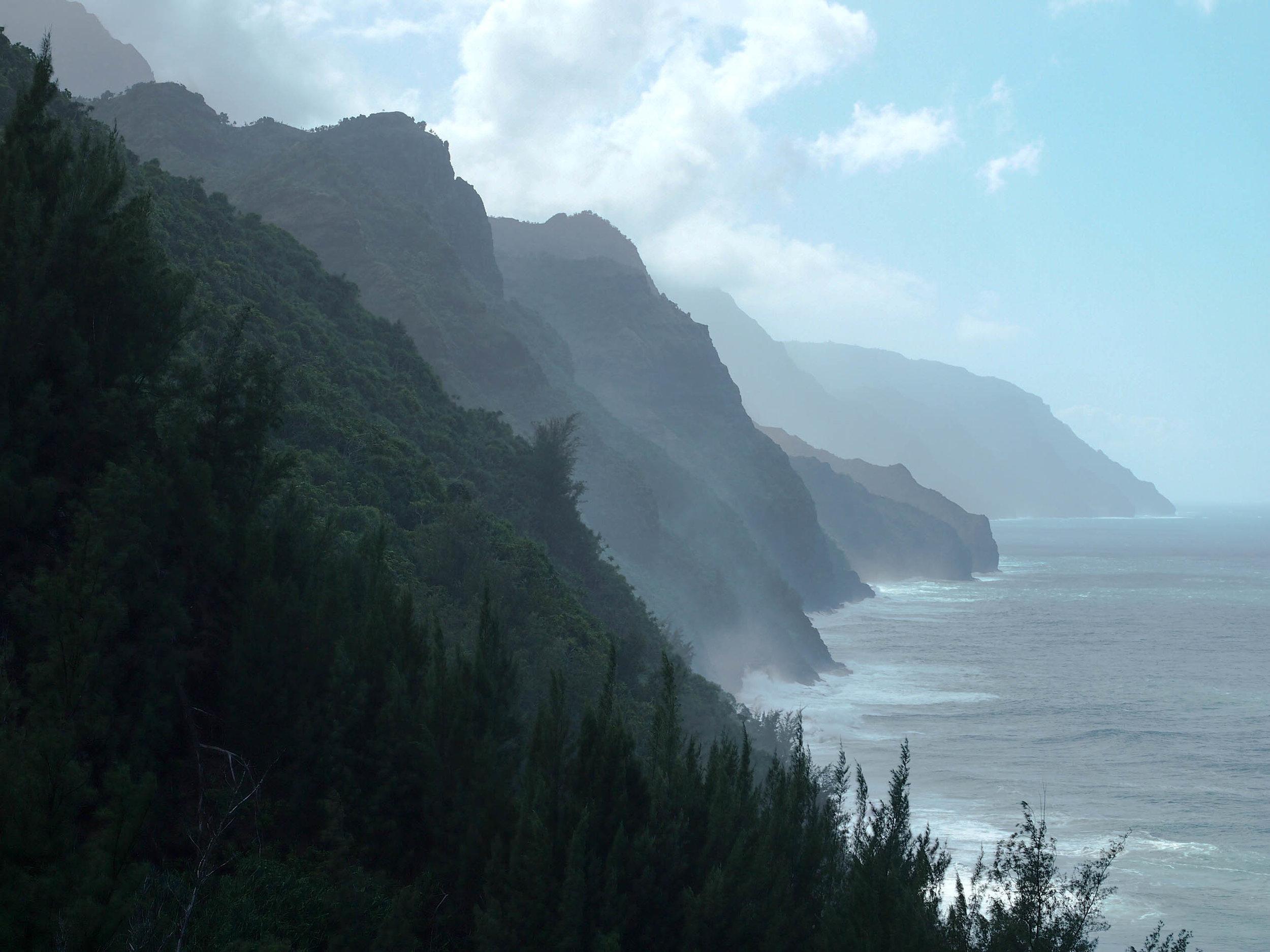 Na Pali Coast from the Kalalau Trail