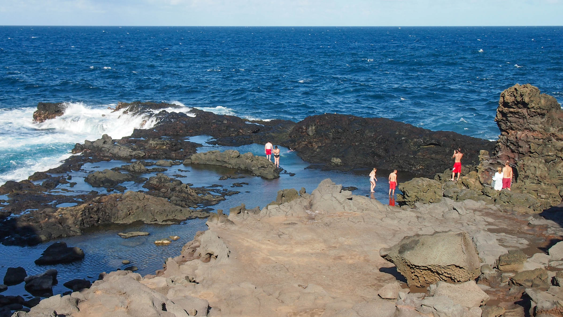 Swimming in the Olivine Pools in West Maui