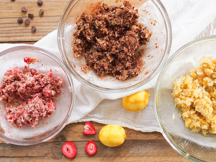 Strawberry, Chocolate and Lemon Macaroons
