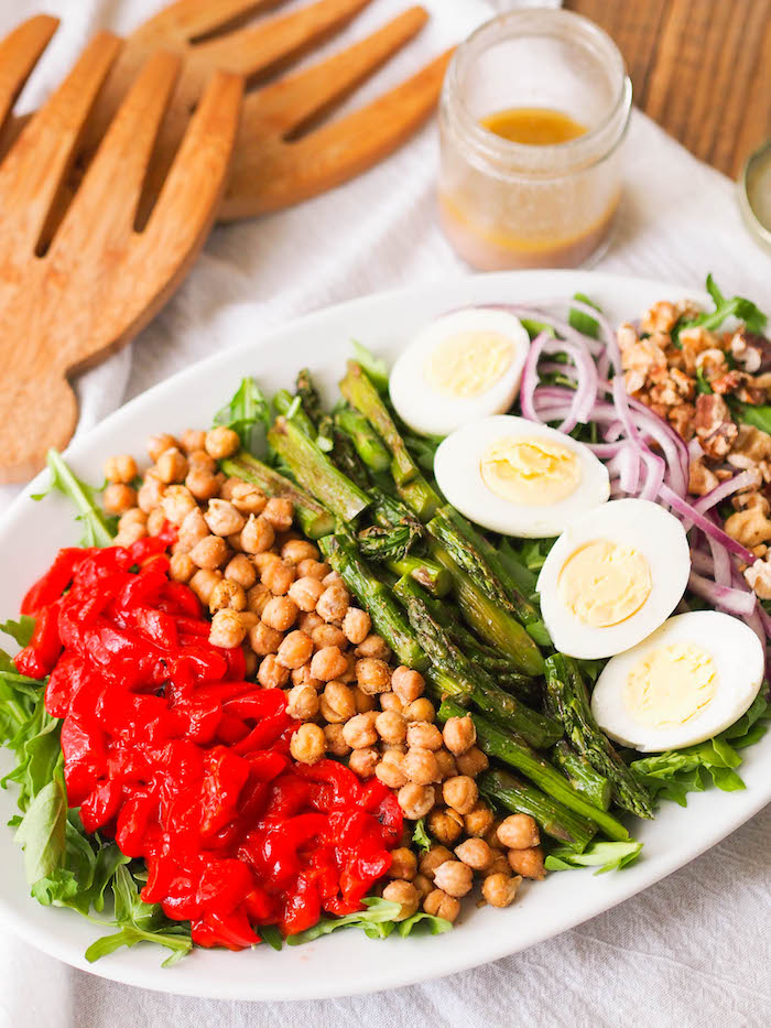 Almost vegetarian Mediterranean cobb salad