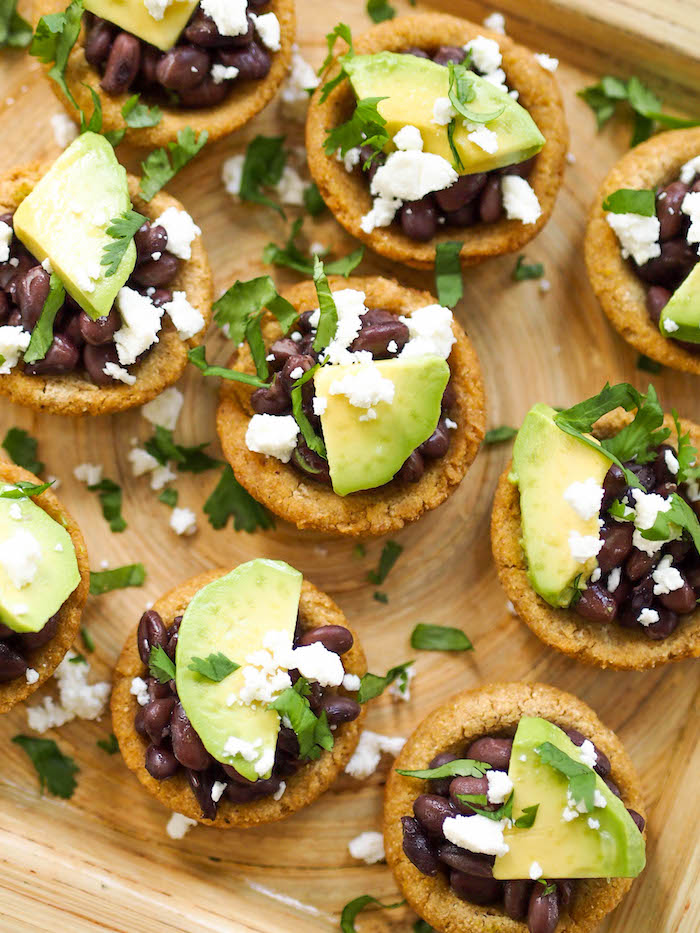These vegetarian baked sopes are a fun Mexican-inspired appetizer!
