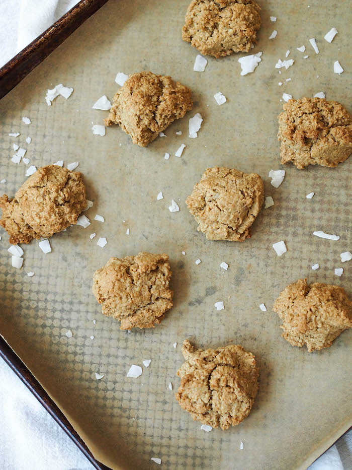 Gluten free and vegan oatmeal cookies with sea salt!