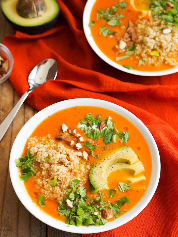 Creamy Carrot Soup with Red Curry