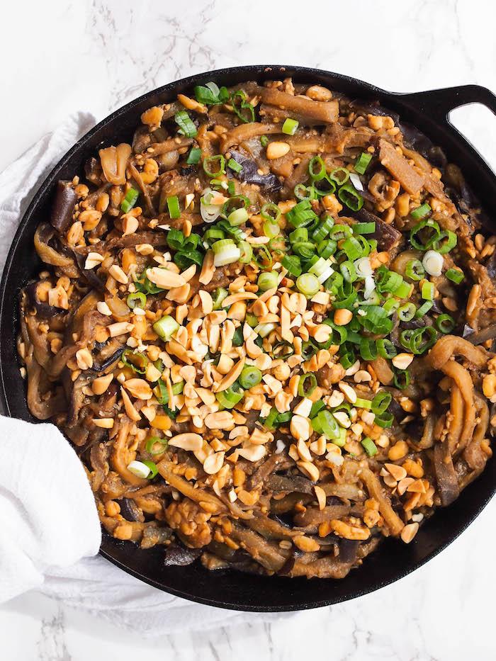 Vegan Eggplant Dan Dan Noodles