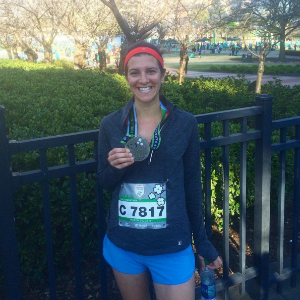 After running my first half marathon. I took it slow because I didn't know what to expect, but had the absolute best time!
