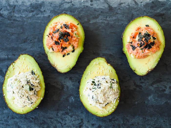 Avocado Sushi Cups