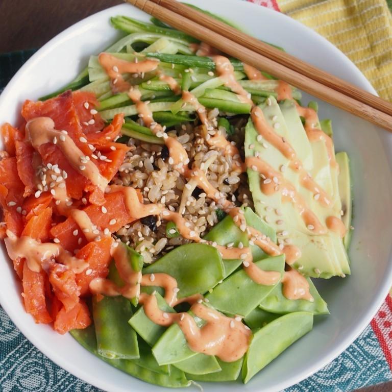 Sushi Unroll with Smoked Salmon and Avocado