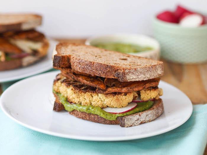 Roast Cauliflower Sandwich