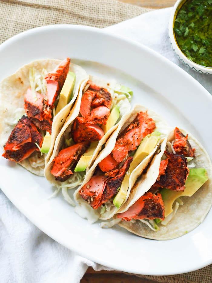 Barbecue Salmon Tacos