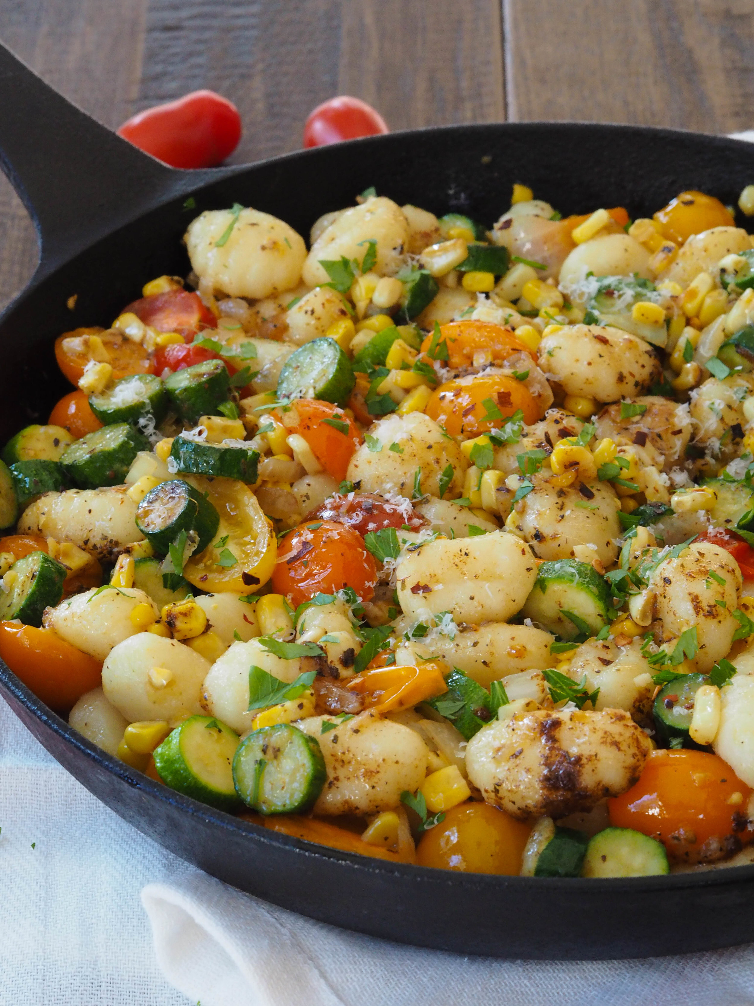 Healthy Summer Gnocchi with Basil Brown Butter