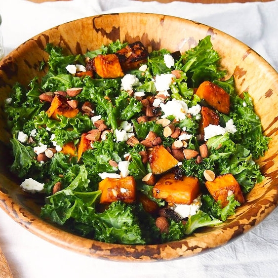 Chipotle Roasted Kabocha and Kale Salad