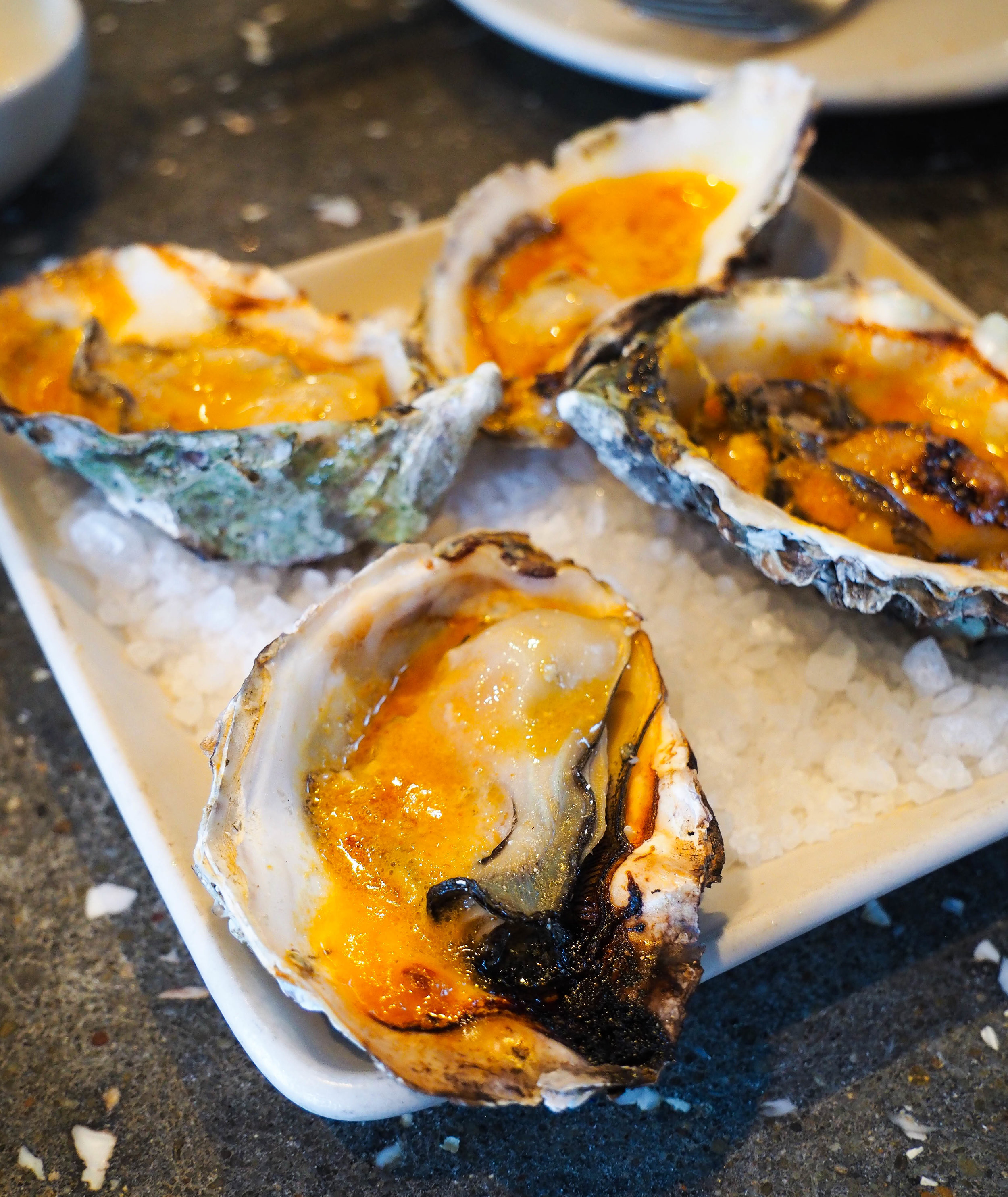 在牡蛎里的牡蛎。辣椒,你……