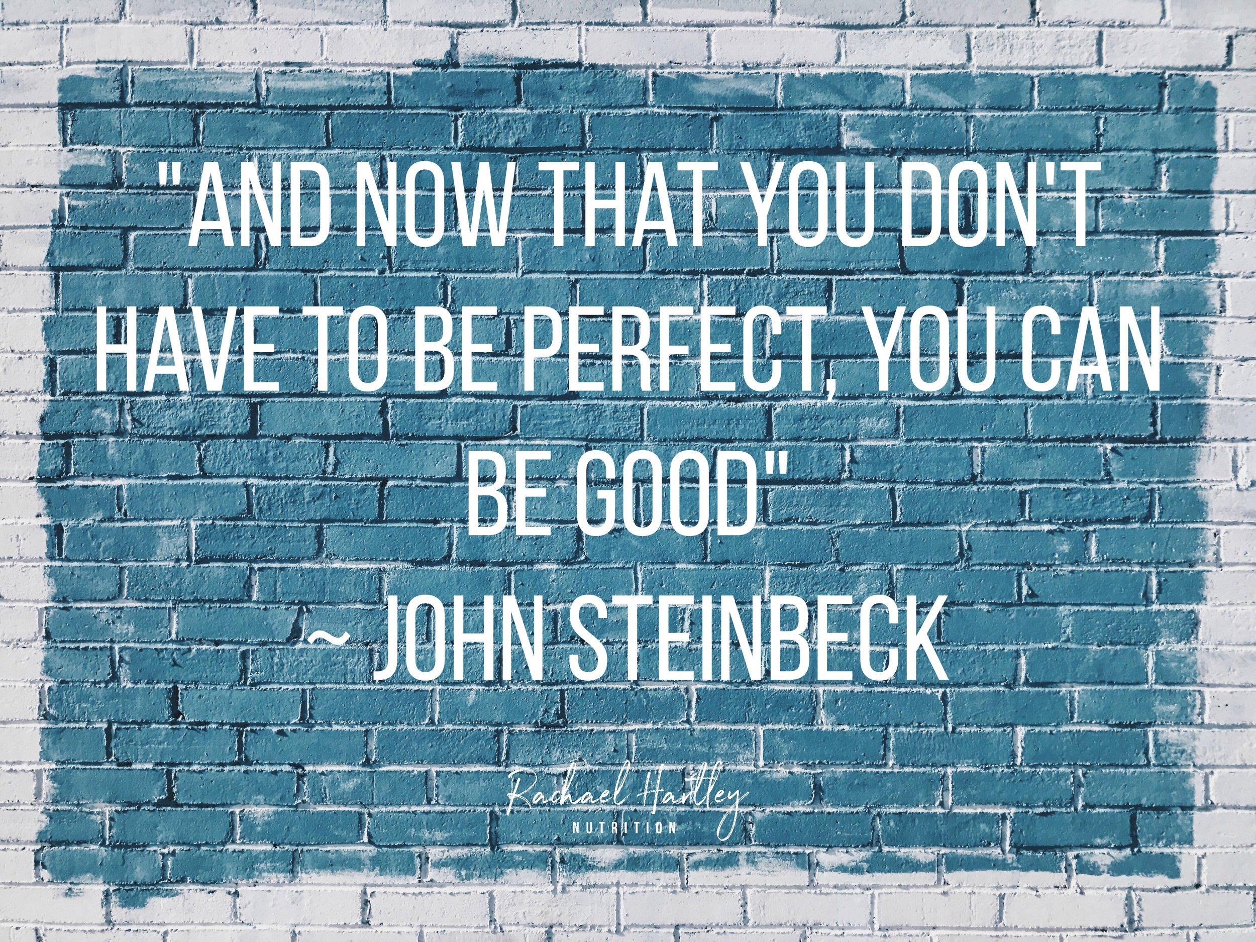 现在你不会完美的,你得做个好……
