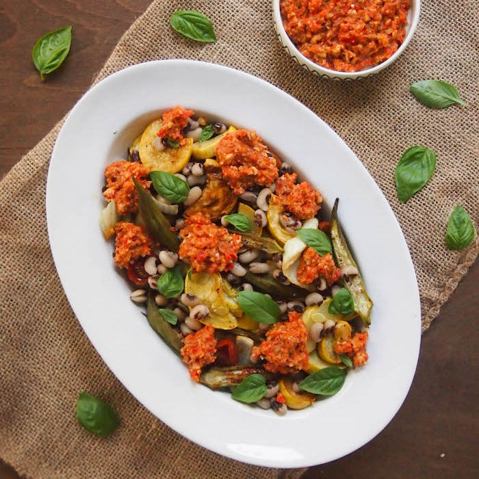 Roasted Summer Vegetables with Southern Romesco