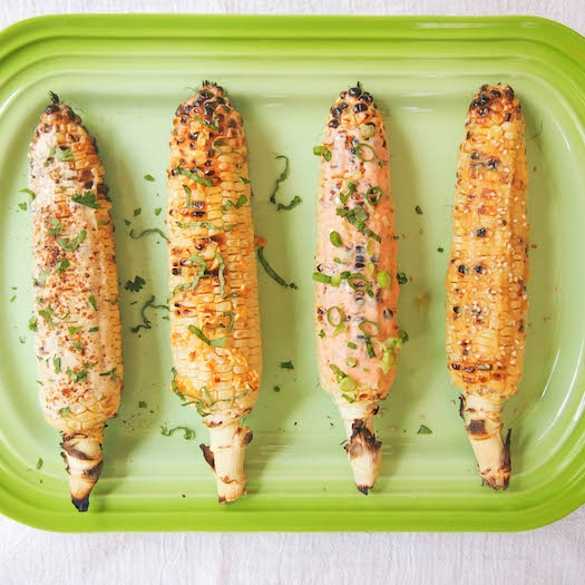 Grilled Corn, Four Ways