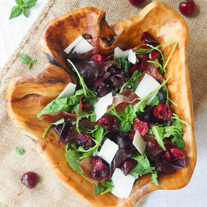 Dark Cherry and Crispy Proscuitto Salad