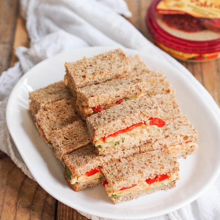 Chickpea Hummus Salad Sandwiches