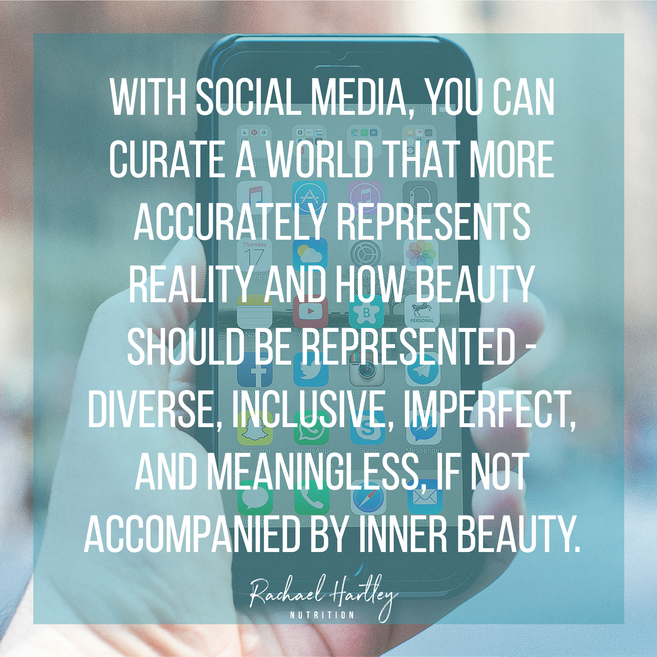 Curating a body positive social media feed