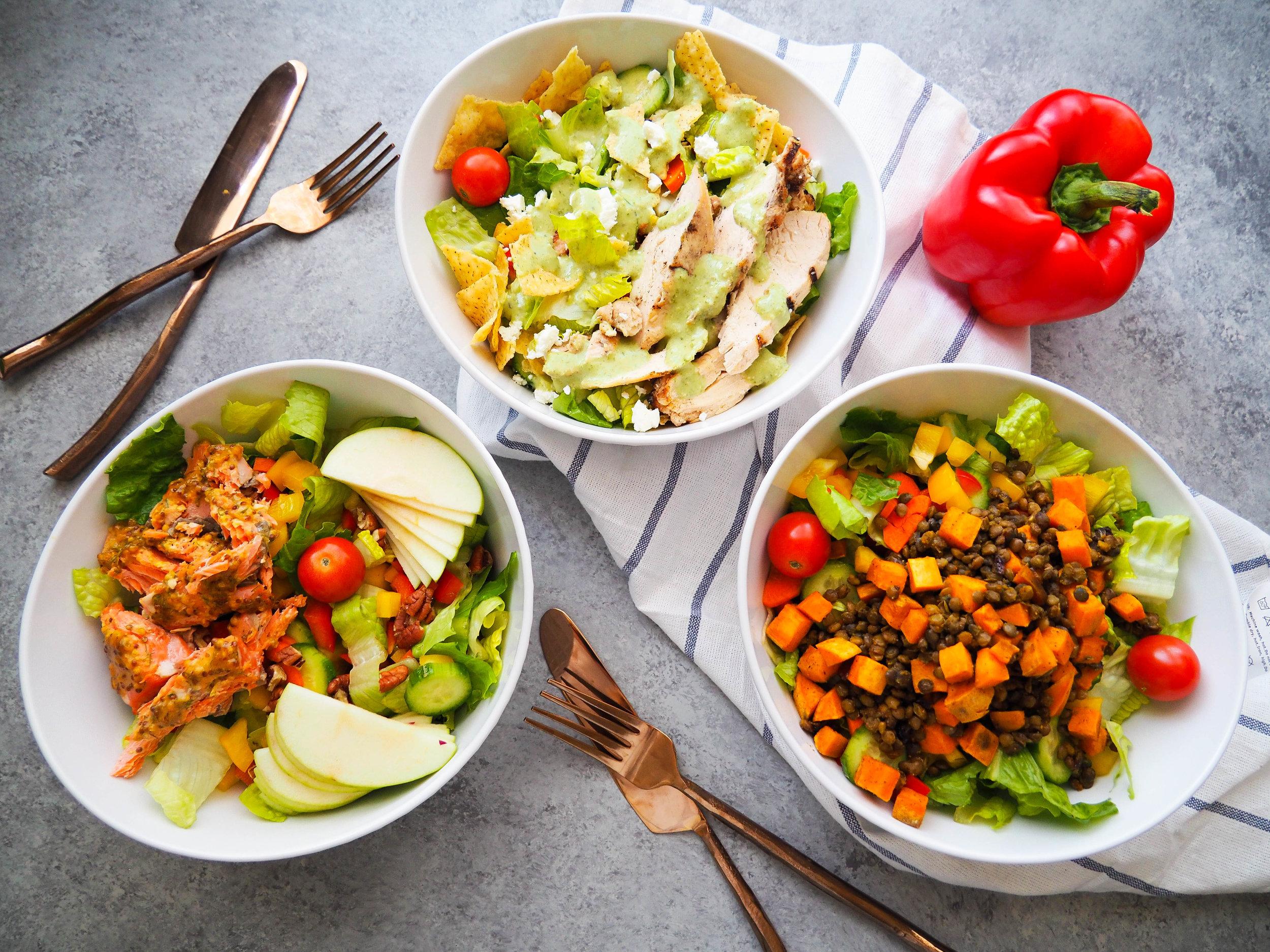 Crunchy Salad Mix + Three Easy Lunch Salads