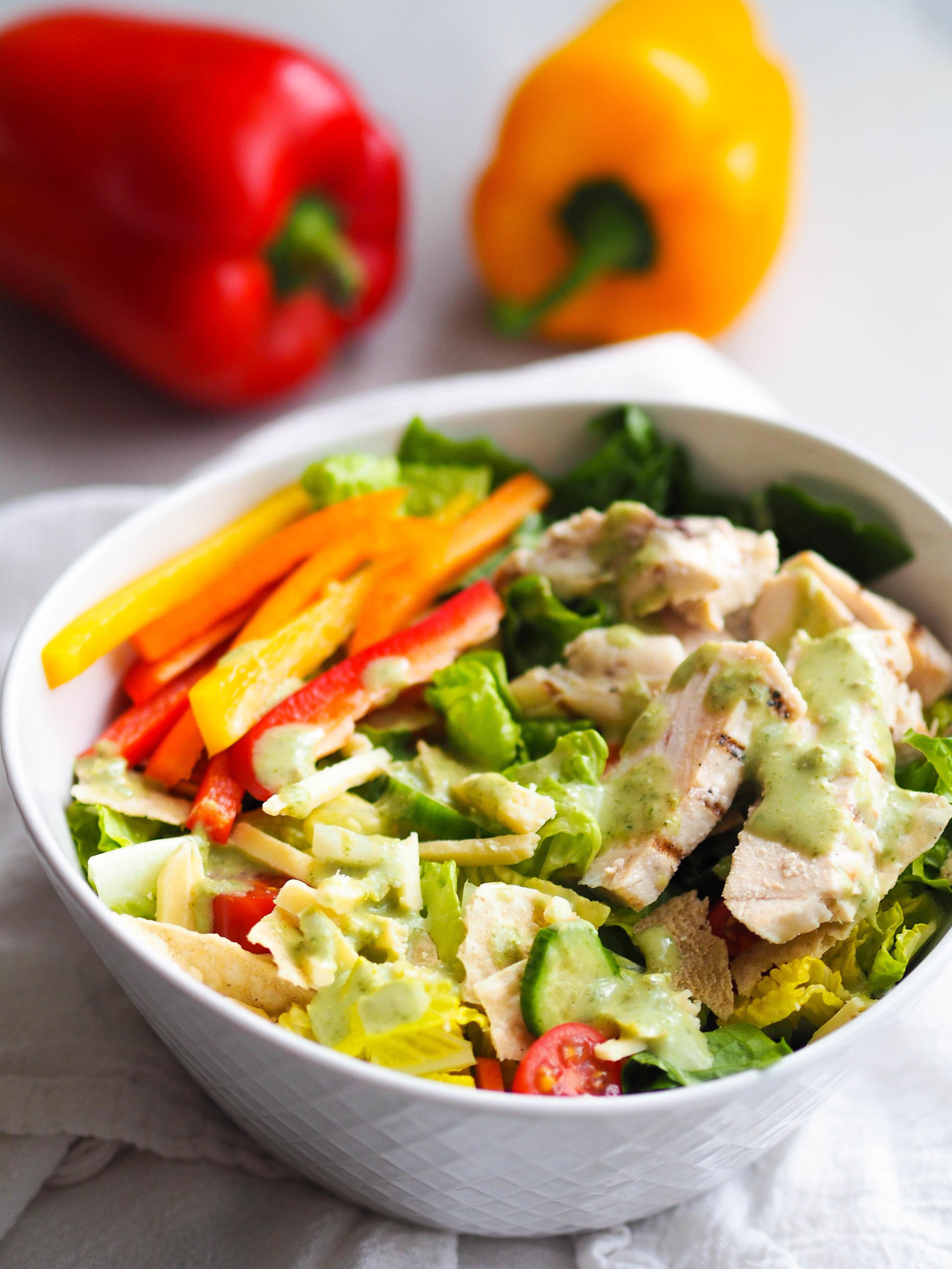 Chicken Tortilla Salad made with Crunchy Salad Mix