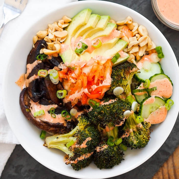 Portobello Bulgogi Bowl with Roasted Broccoli