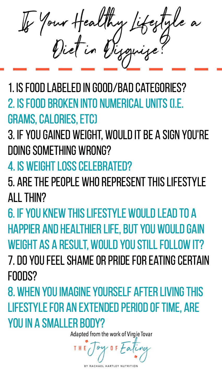 """Are you lowkey dieting? With the rise of """"wellness"""" diets are getting tricker to spot. #intuitiveeating #wellness #health #nutrition"""
