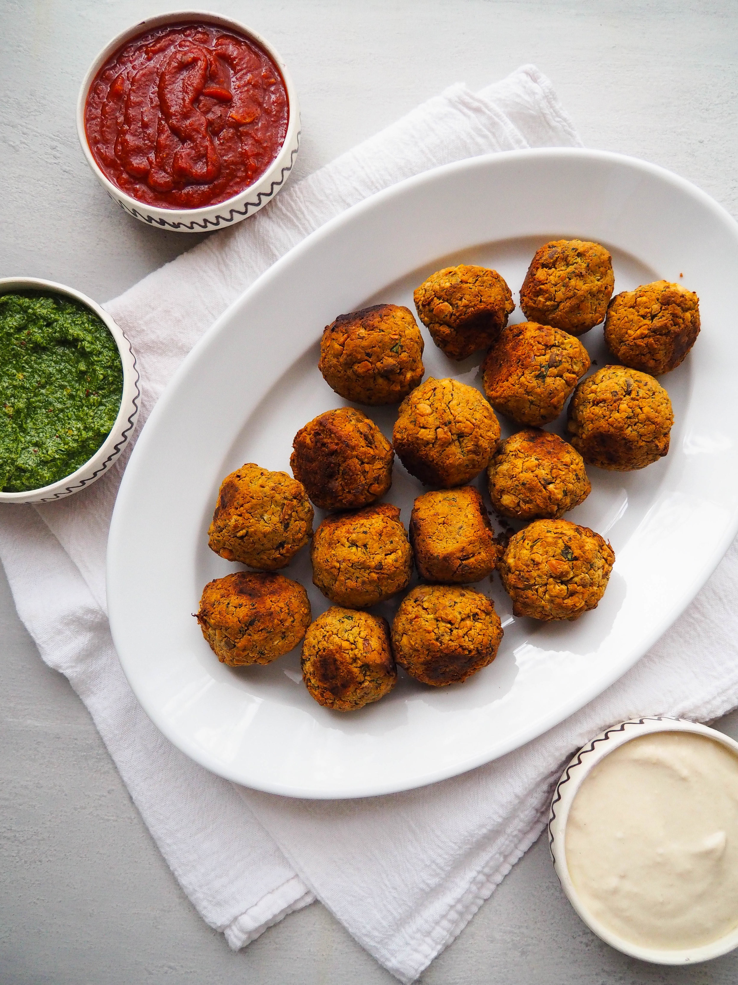 Healthy Baked Green Falafel