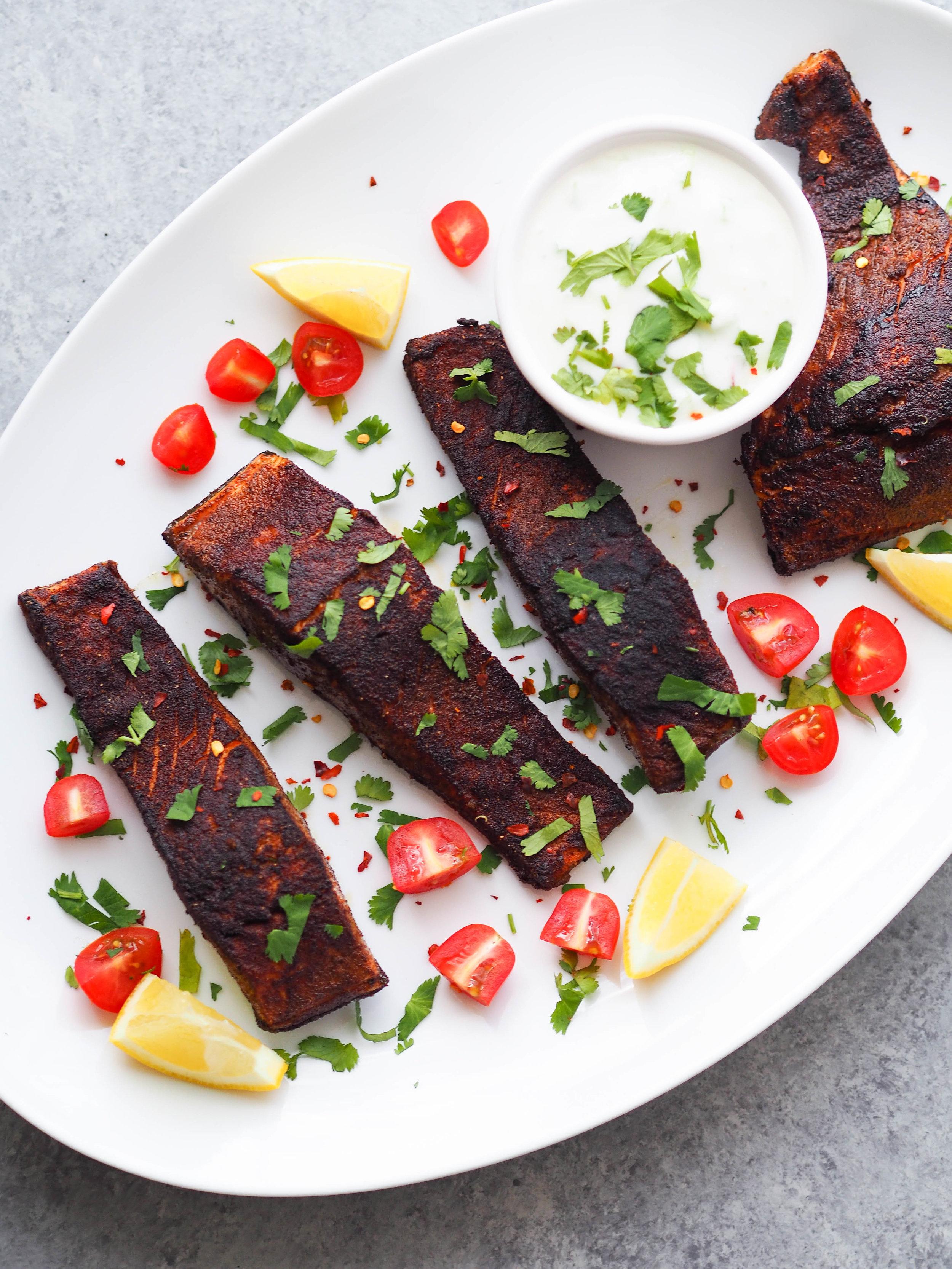 用一条鲑鱼,用美味的黄瓜沙拉来吃盐!##优雅的素食#