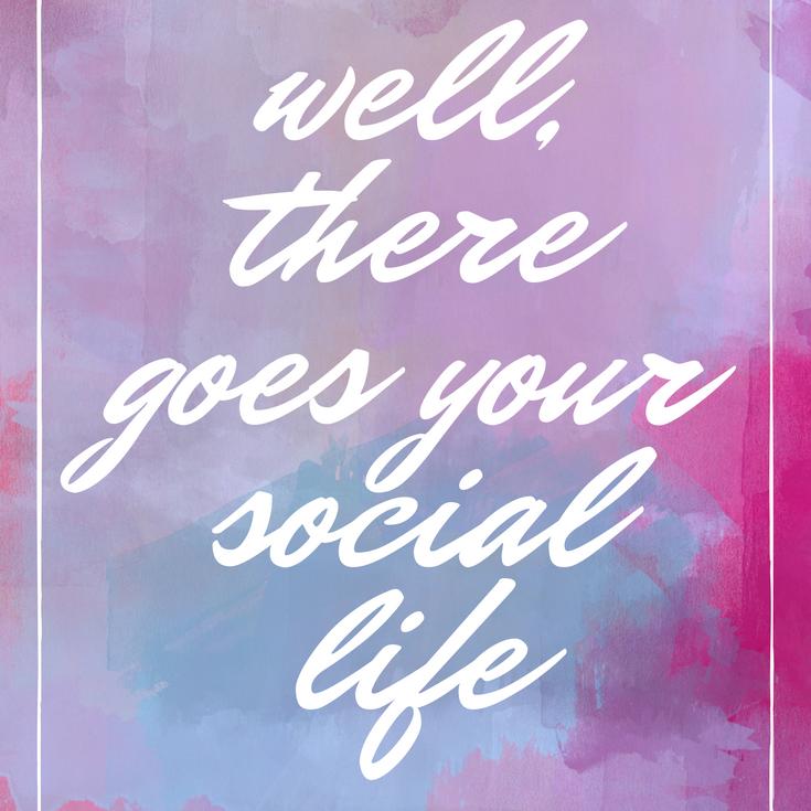 节食?好吧,你的社会生活有意义。
