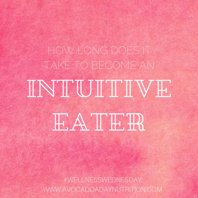 How Long Does it Take to Become an Intuitive Eater.