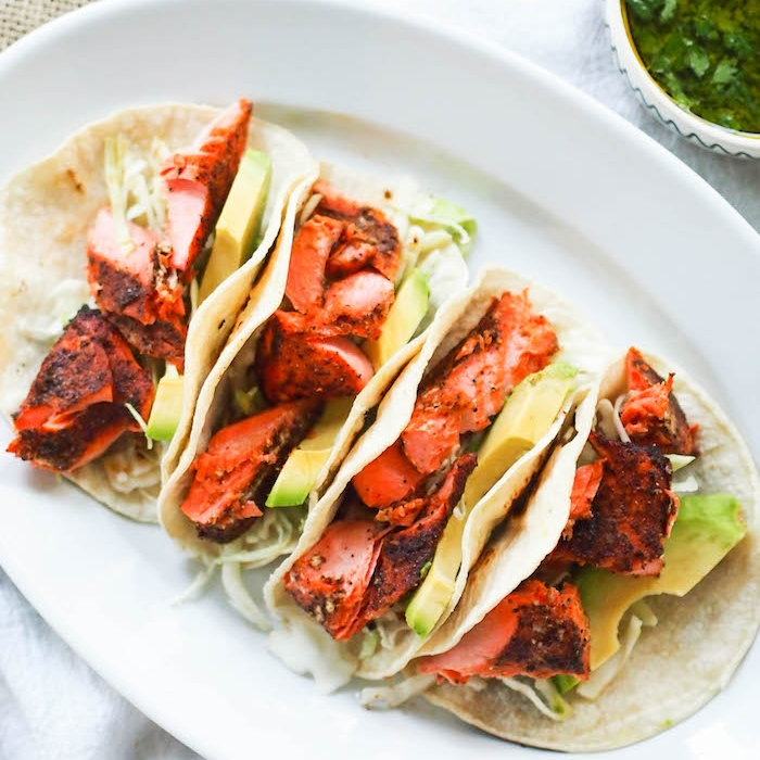 Easy Barbecue Salmon Tacos