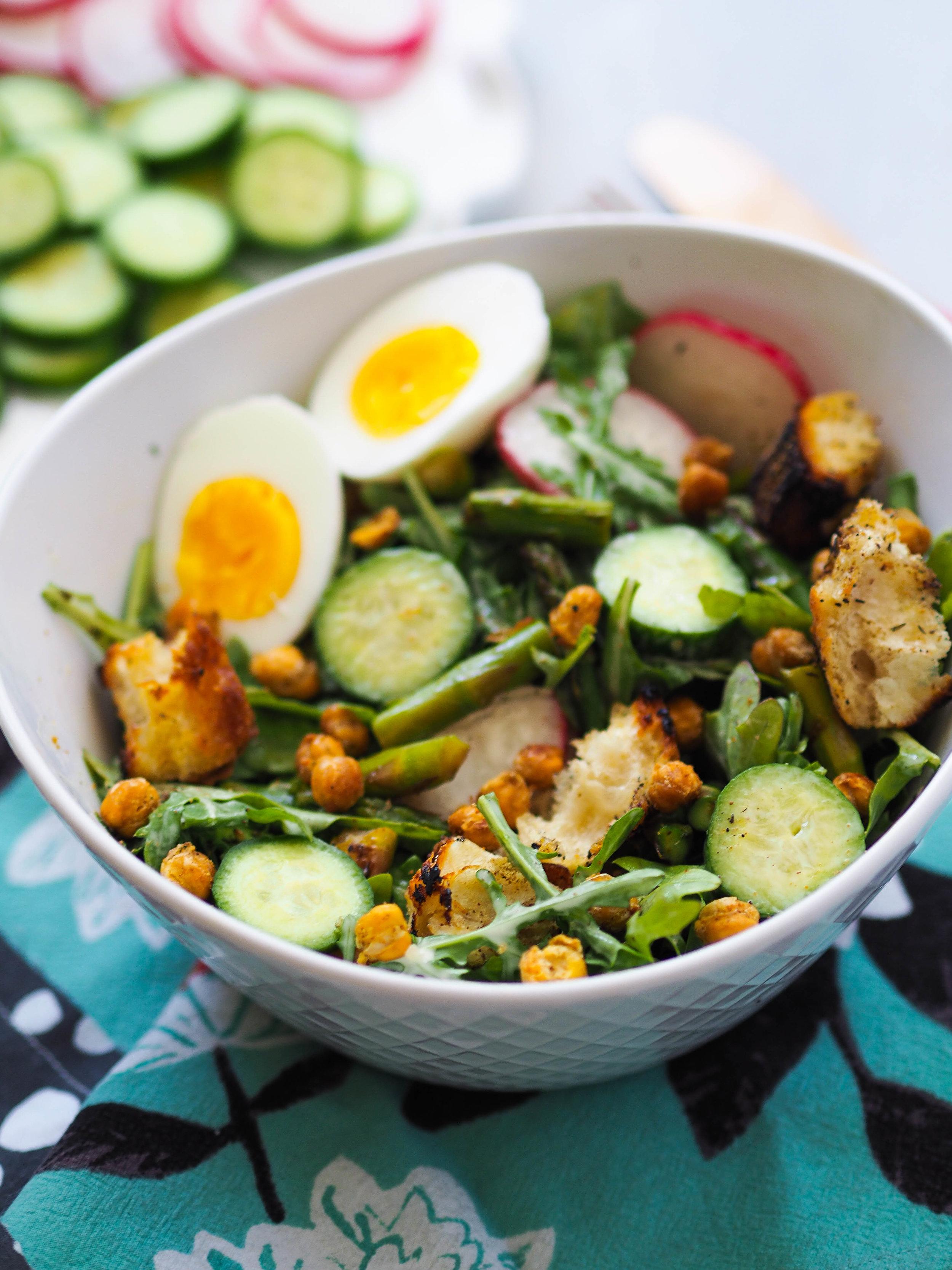 凯撒·奥提亚·拉什拉的烤虾和香蕉沙拉!######素食,素食素食#