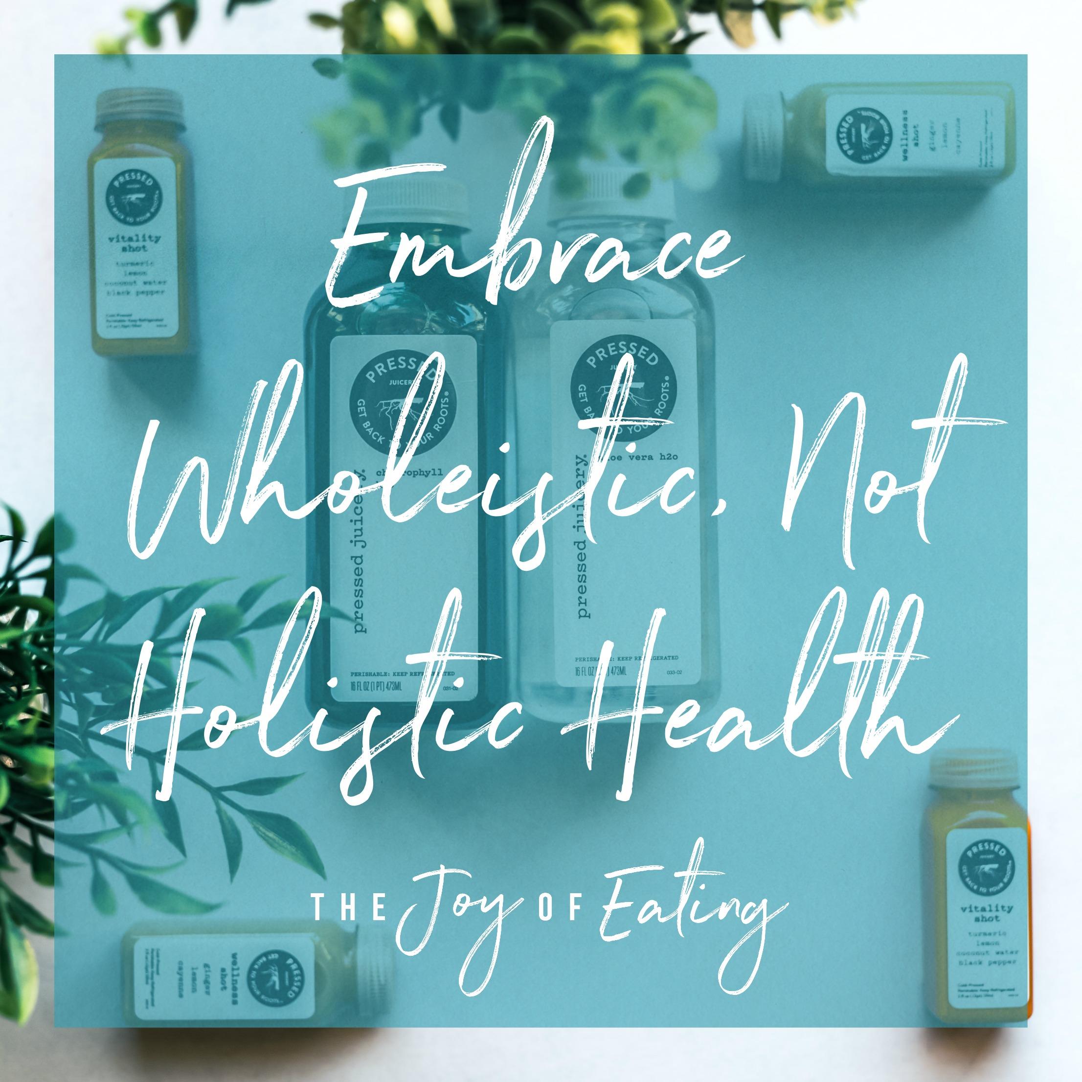 Embrace wholeistic, not holistic health. #health #dietitian #wellness #nutrition #holistichealth