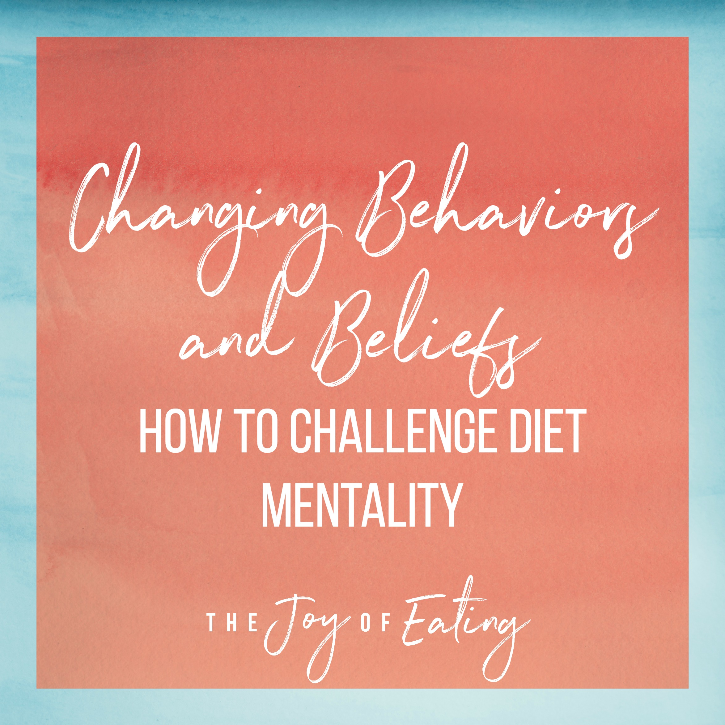 Bingeing, emotional eating and restriction are driven by beliefs rooted in diet mentality. The key to long lasting change is learning how to challenge these beliefs. Learn how in this post. #haes #intuitiveeating #nondiet #wellness