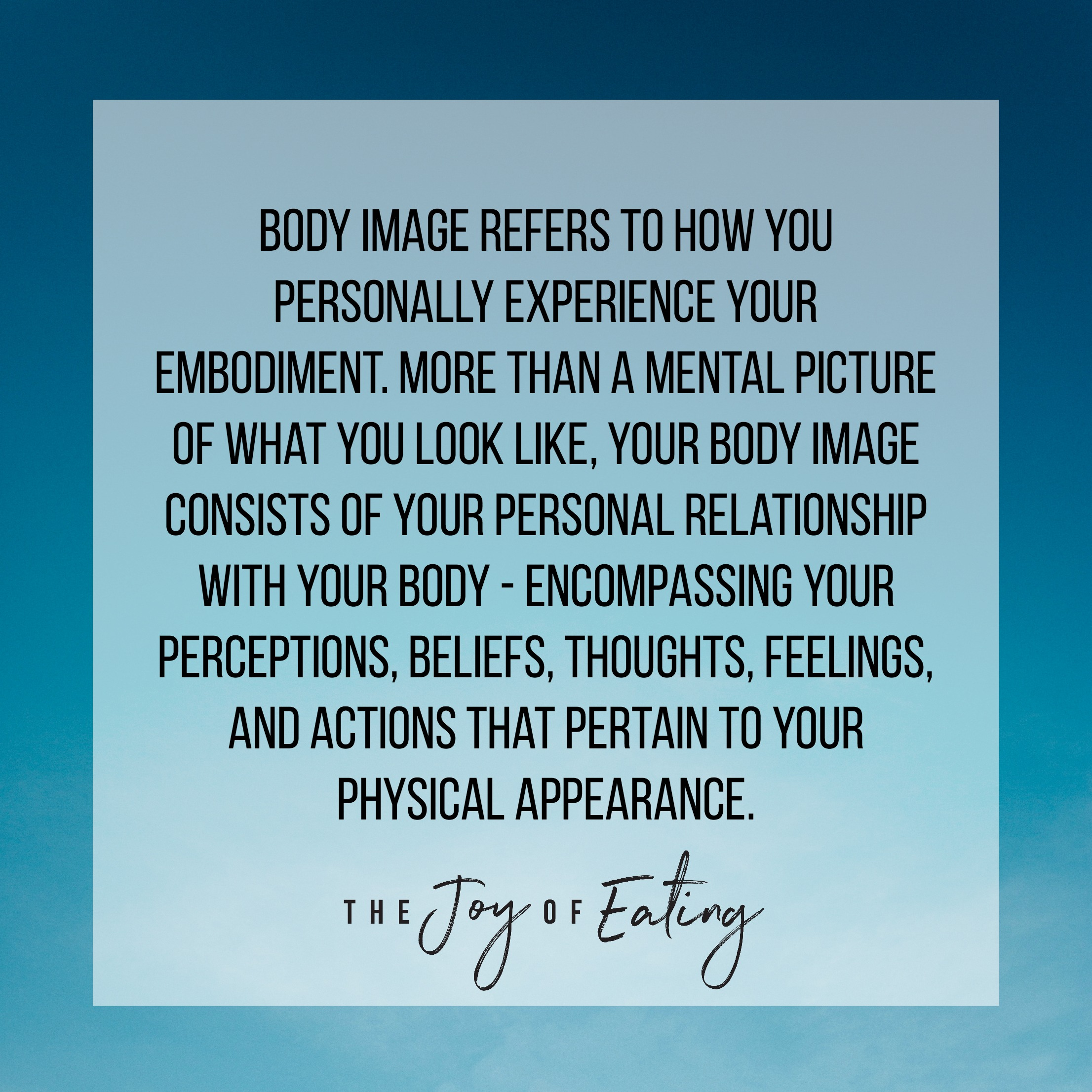 Body image is about more than your body. #bodyimage #intuitiveeating #haes