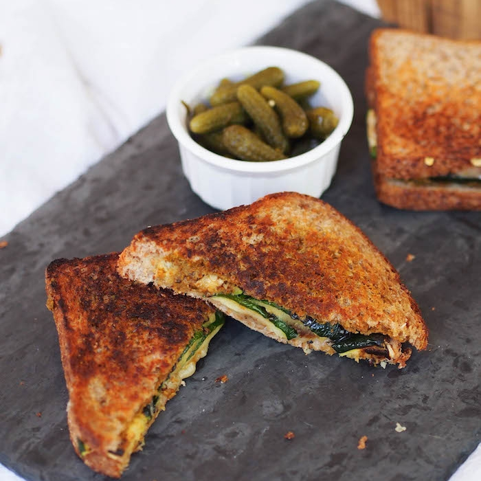 Grilled Zucchini and Gruyere Panini