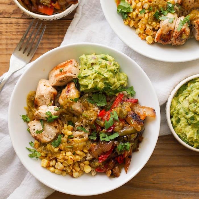 Chipotle Chicken Brown Rice Burrito Bowl