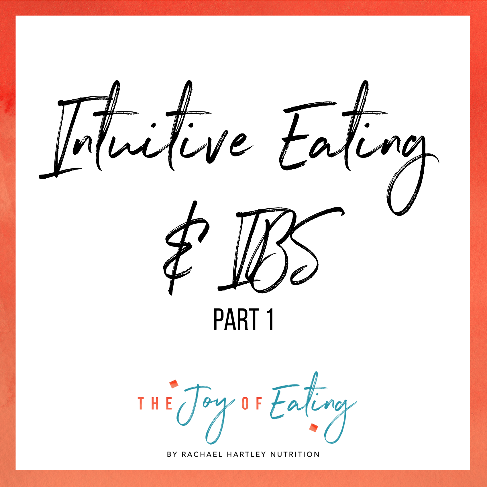 Learn about how intuitive eating can be helpful for IBS. #intuitiveeating #ibs #nutrition #wellness