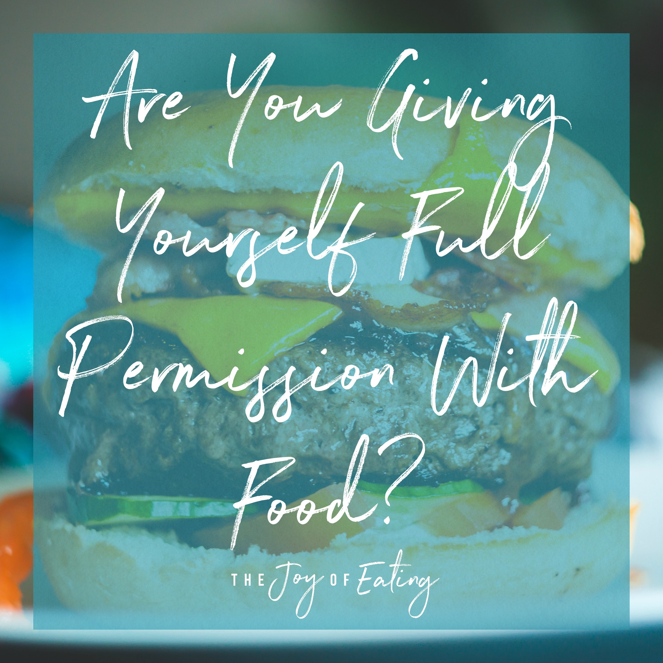 Are you giving yourself full permission with food, or partial permission? #intuitiveeating #wellness #nutrition