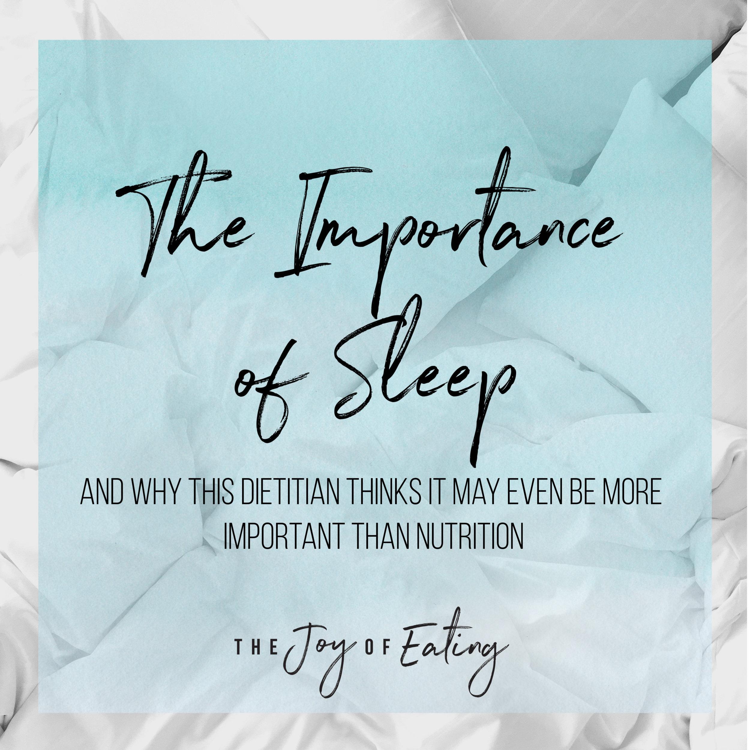 睡眠 的 重要性