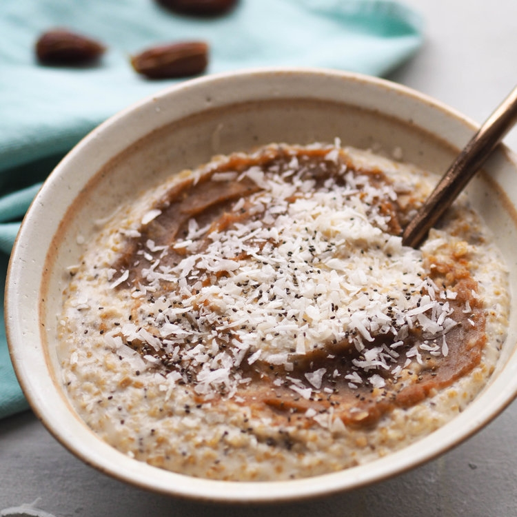 Coconut Ginger Date Oatmeal