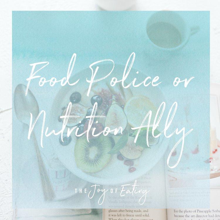 食物或者警察的行为?
