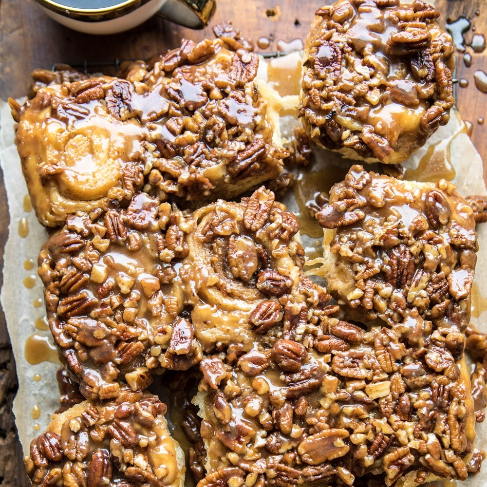 Extra Sticky Pecan Rolls….just look at all that goo!