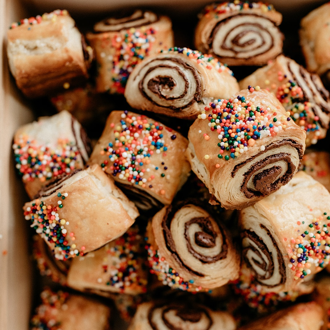 Sea Salt Chocolate Rugelach. Hanukkah may be over but we can still bake rugelach.
