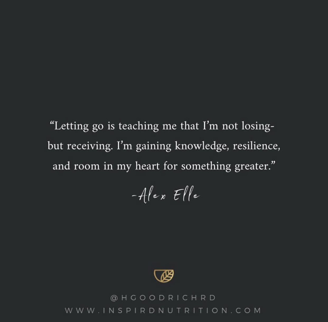 Quote from  Alex Elle