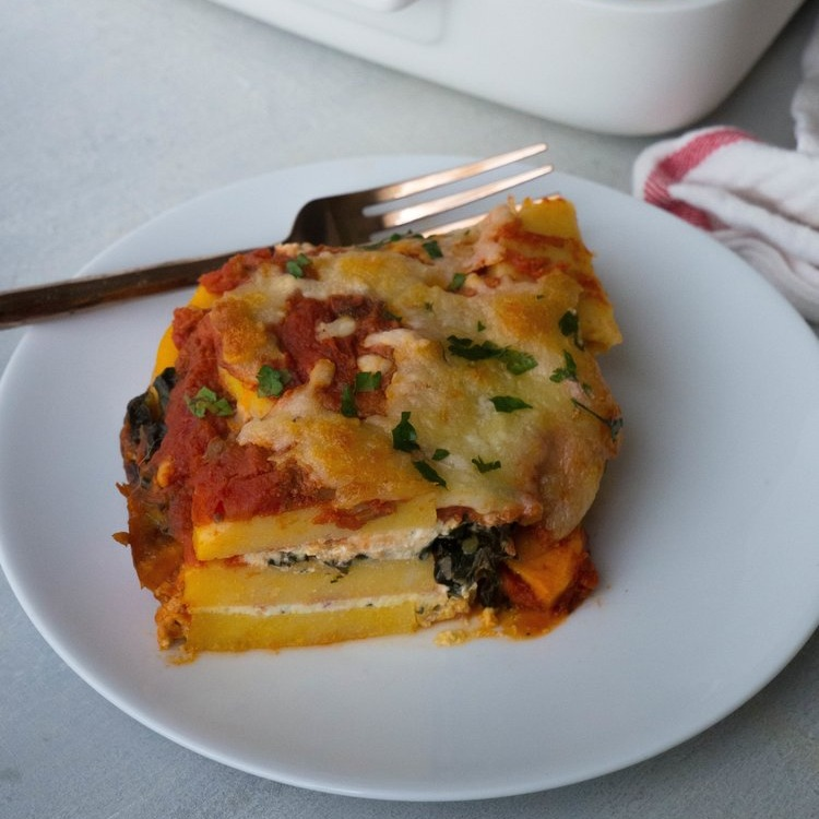 Vegetarian Polenta Lasagna with Butternut Squash and Kale